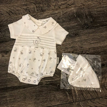 Load image into Gallery viewer, Tiny Baby Boy's or Girl's Premature Baby Romper Set White & Grey