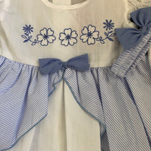 Load image into Gallery viewer, Baby Girl's Summer Dress & Knicker Set White with Pink or Blue