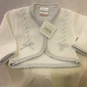 Baby Girl's White & Silver White Cardigan