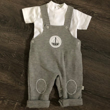 Load image into Gallery viewer, Baby Boys 3 Piece Portuguese Outfit in Grey & White