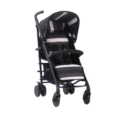 My Babiie AM TO PM MB 51 Charcoal Stripes Rose Gold Stroller