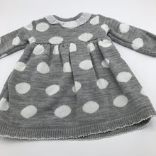 Load image into Gallery viewer, Baby Girl's Knitted Portuguese Dress & Bolero Cardigan Grey & White