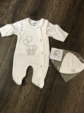 Load image into Gallery viewer, Tiny Newborn  & Premature Baby 3 Piece Outfit White & Grey Unisex
