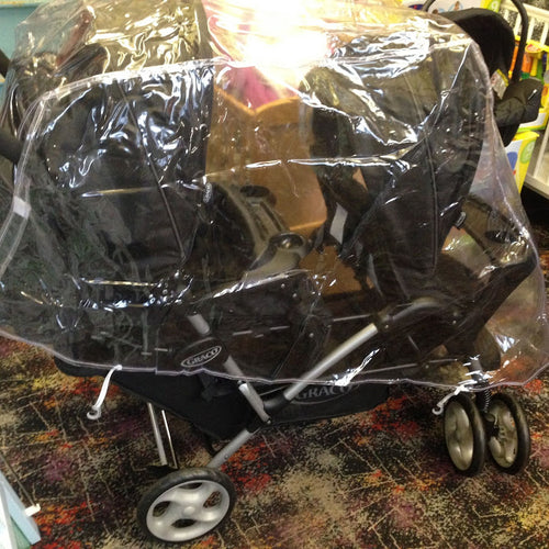 PVC Raincover to fit Graco Stadium Duo Tandem Twin Pushchair Stroller