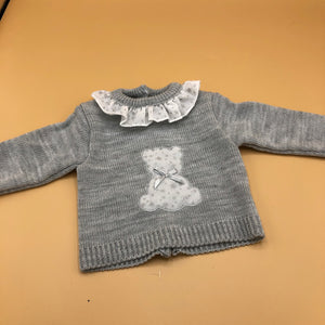 Baby Boy's Girl's Newborn Spanish Knitted 3 Piece Outfit Teddy Detail