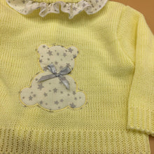 Load image into Gallery viewer, Baby Boy's Girl's Newborn Spanish Knitted 3 Piece Outfit Teddy Detail