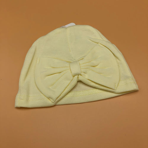 Baby Girl's Turban with Bow Lemon - NEW COLOUR