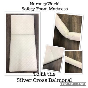 Replacement Safety Foam Pram Mattress Fits Silver Cross Balmoral Coach Built Pram