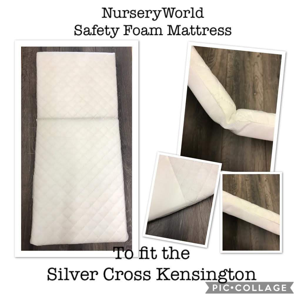 Replacement Safety Foam Pram Mattress Fits Silver Cross Kensington Coach Built Pram FREE UK POSTAGE
