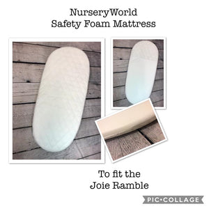 Replacement Safety Foam Pram Mattress Fits Joie Ramble Carrycot Body FREE UK POSTAGE