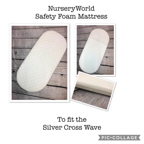 Replacement Safety Foam Pram Mattress Fits Silver Cross Wave Pram