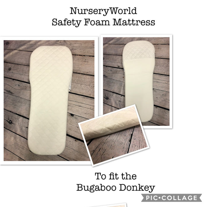 Replacement Safety Foam Pram Mattress Fits Bugaboo Donkey Carrycot Pram