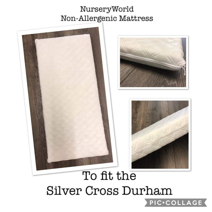 Non Allergenic Vegan Fibre Pram Mattress Fits Silver Cross Durham Coach Built Pram