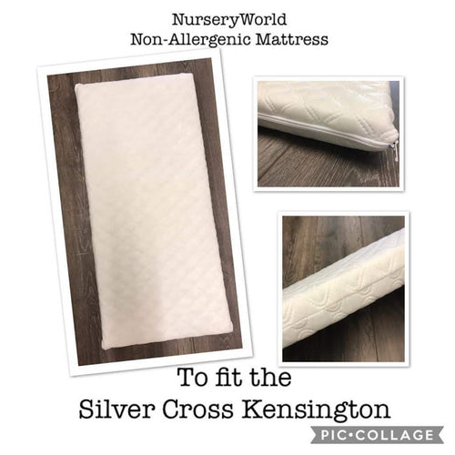 Non Allergenic Vegan Fibre Pram Mattress Fits Silver Cross Kensington Coach Built Pram