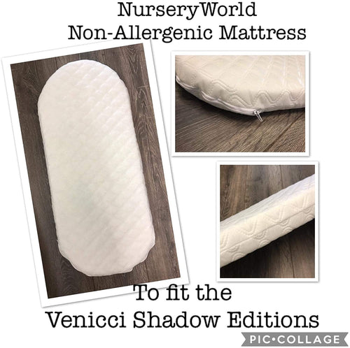 Non Allergenic Vegan Fibre Pram Mattress Fits Venicci  Shadow Editions Pram