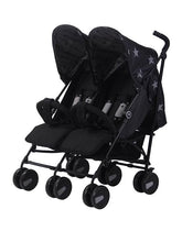 Load image into Gallery viewer, My Babiie Billie Faiers MB 22 Twin Stroller Black Stars