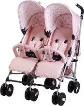Load image into Gallery viewer, MyBabiie Billie Faiers MB 22 Twin Stroller Pink Polka