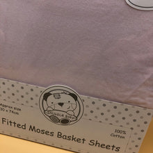Load image into Gallery viewer, Moses Basket Cotton Interlock Fitted Sheets