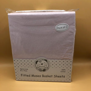 Moses Basket Cotton Interlock Fitted Sheets