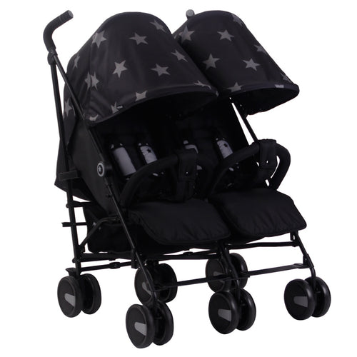 My Babiie Billie Faiers MB 22 Twin Stroller Black Stars