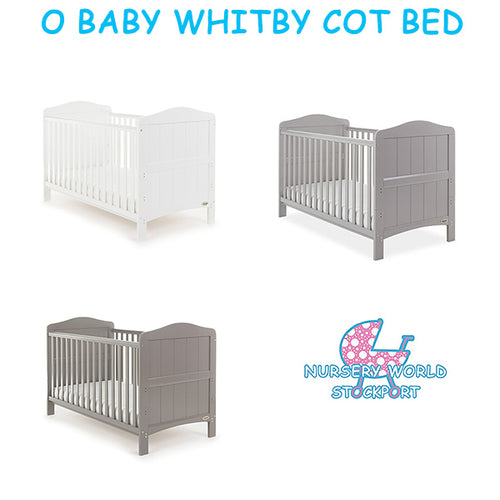 O Baby Whitby Cot Bed - Taupe Grey, Warm Grey, White