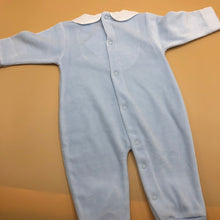 Load image into Gallery viewer, Baby Boy's Pale Blue Sleepsuit with White Trim newborn - 4904