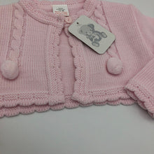 Load image into Gallery viewer, Baby Girl's Pink Bolero Cardigan with Bobbles