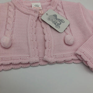 Baby Girl's Pink Bolero Cardigan with Bobbles