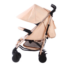 Load image into Gallery viewer, My Babiie AM TO PM MB 51 Blush Stripes Rose Gold Stroller