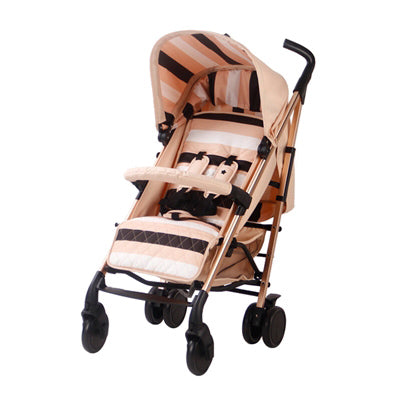 My Babiie AM TO PM MB 51 Blush Stripes Rose Gold Stroller