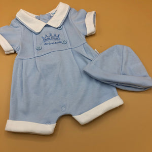 Baby Boy's Premature Baby Tiny Baby Outfit- Blue Prince - 3321