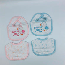 Load image into Gallery viewer, Tiny Baby or Premature Baby Bibs - Pack of 2- Pink or Blue