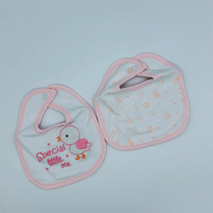 Tiny Baby or Premature Baby Bibs - Pack of 2- Pink or Blue