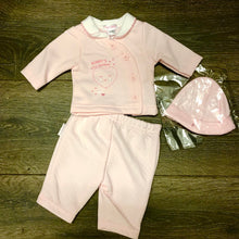 Load image into Gallery viewer, Tiny Baby or Premature Baby Girl's 3 Piece Outfit Pink