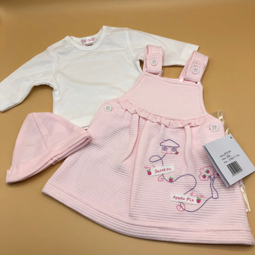 Premature Preemie Prem Tiny Baby Girl's Outfit Dress Top & Hat 7758