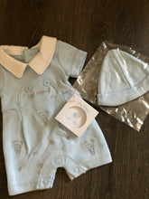 Load image into Gallery viewer, Premature Baby or Tiny Baby Boy's Outfit with Hat-Just Arrived-Blue