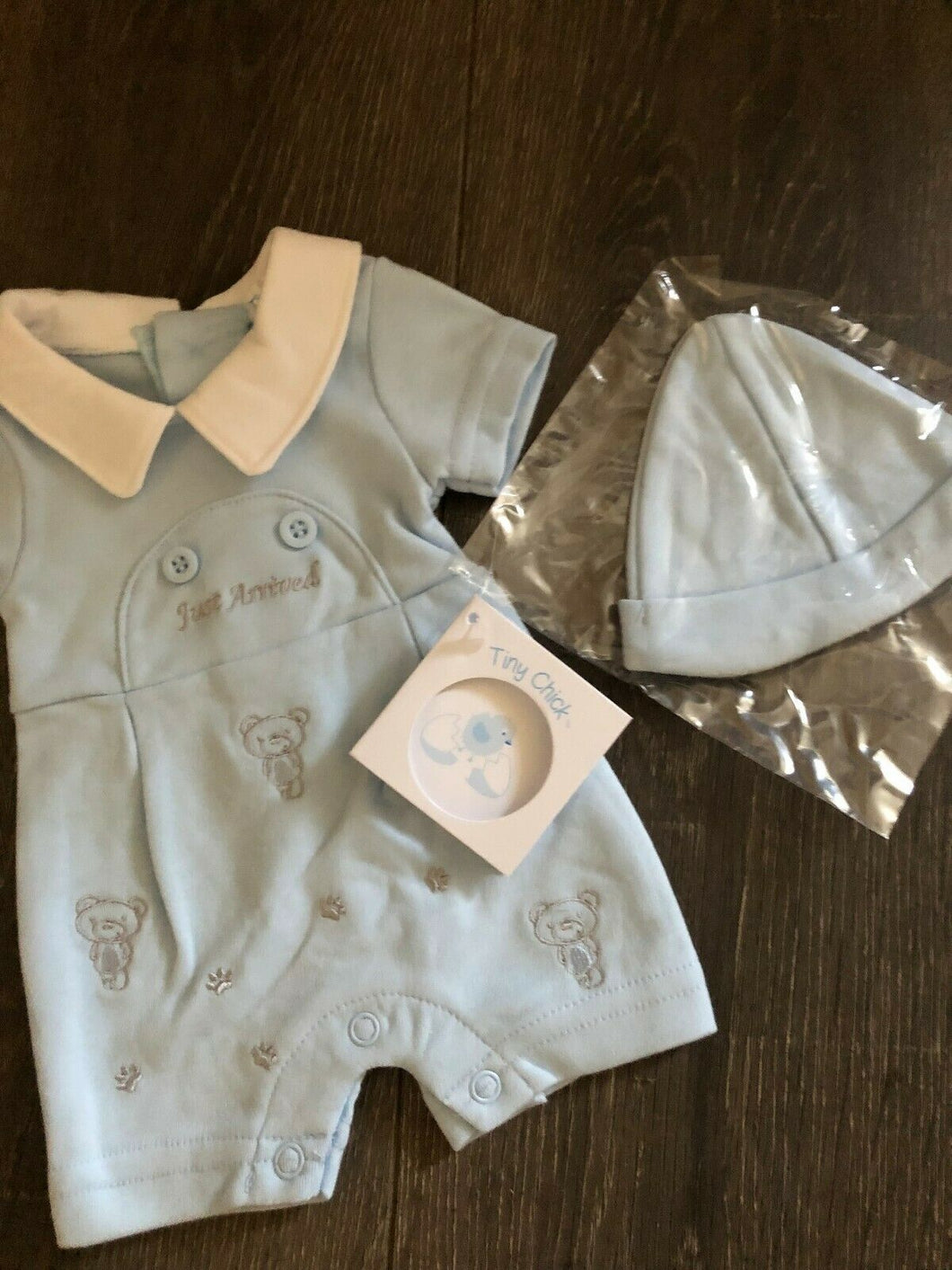 Premature Baby or Tiny Baby Boy's Outfit with Hat-Just Arrived-Blue