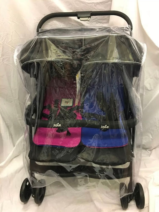 PVC Raincover to fit Joie Aire Side by Side Twin Pushchair Stroller