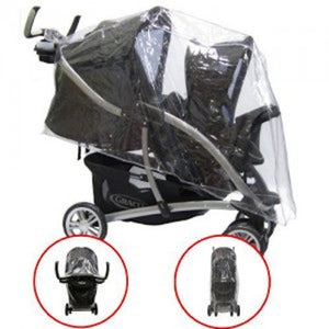PVC Raincover to fit Graco Quattro Tour Duo Tandem Twin Pushchair Stroller