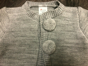 Baby Boy's Cardigan Grey with Bobbles