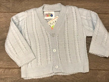 Load image into Gallery viewer, Baby Boy's Cardigan Cable Design Pale Blue