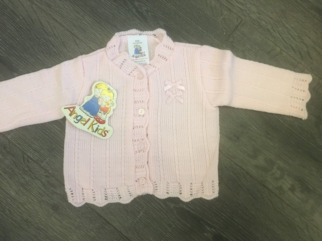 Baby Girl's Cardigan Pink or White