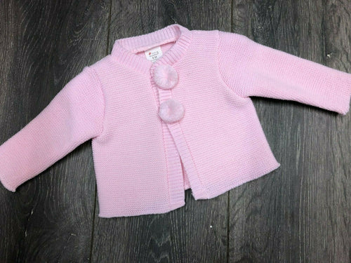 Baby Girl's Cardigan Pink with Bobbles