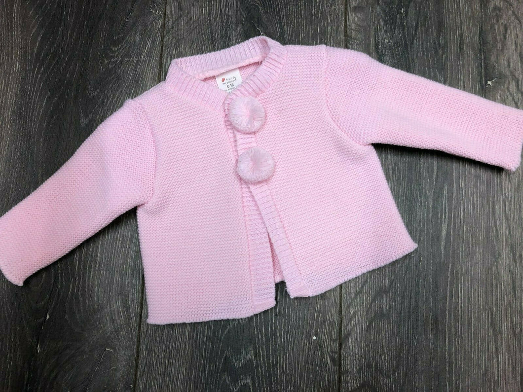 Baby Girl's Cardigan Pink with Bobbles -8090