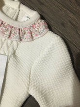 Load image into Gallery viewer, Baby Girl's Portuguese Knitted 2 Piece with Bow