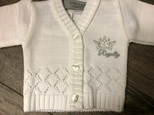 Load image into Gallery viewer, Tiny Baby or Premature baby cardigan in White