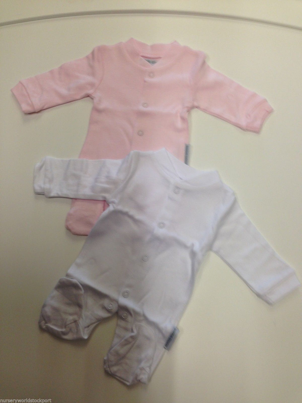 Tiny Baby Sleep suits 100% Cotton Pink & White