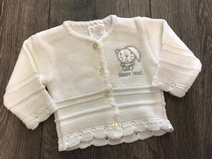 Tiny Baby or Premature baby cardigan in White