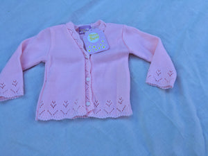 Baby Girl's Pink Cardigan 6-12 months