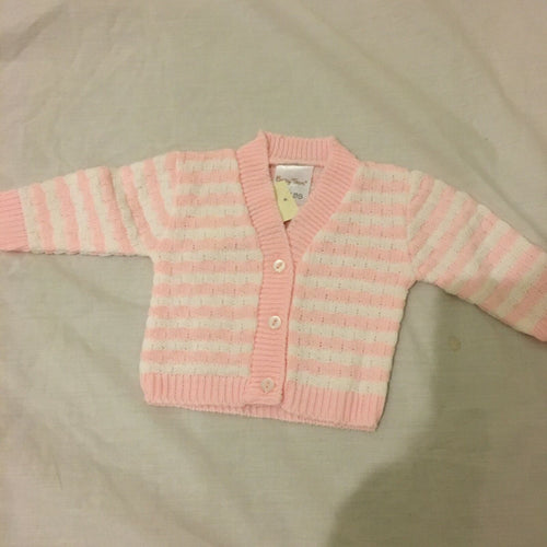 Tiny Baby or Prem Baby Girl's Pink Cardigan 3-5 LBS